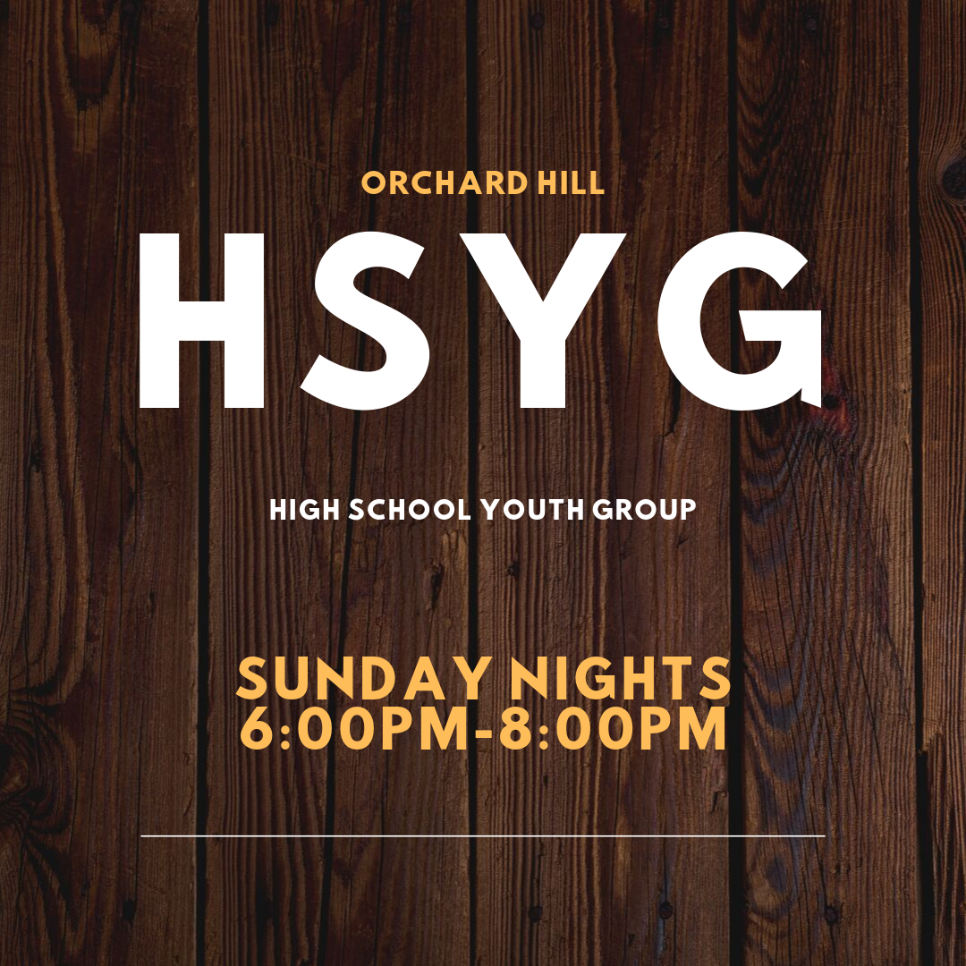 Orchard Hill High School Youth Group